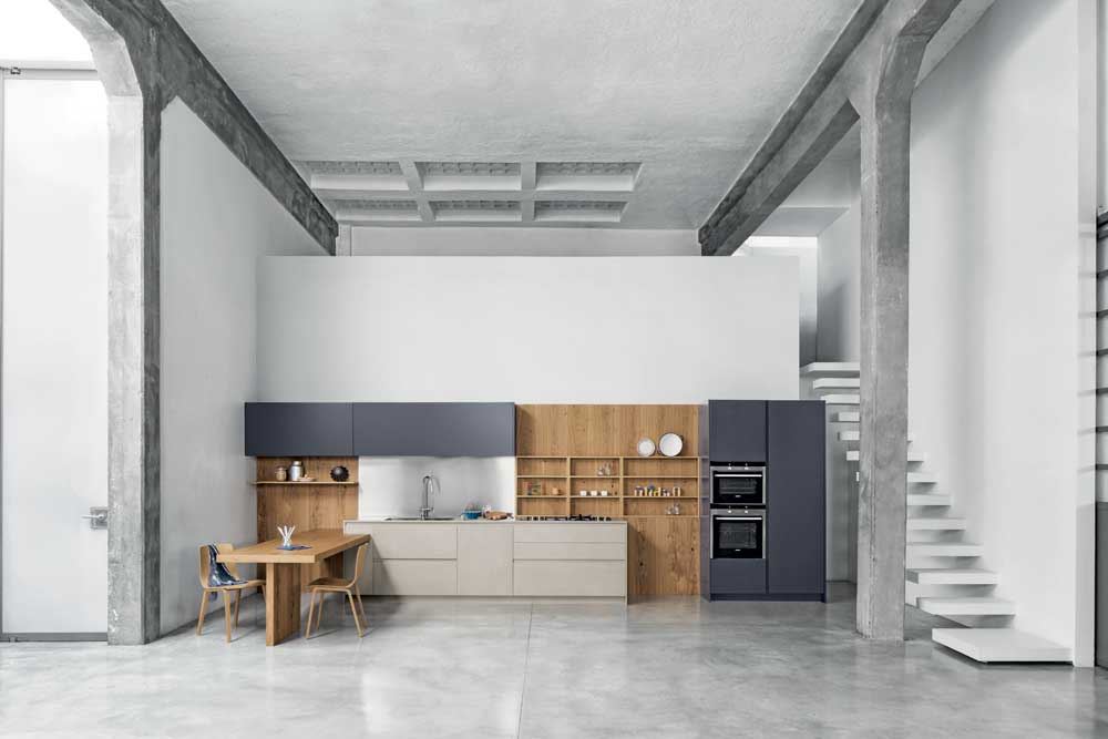 La cucina contemporanea Polaris Life Easy