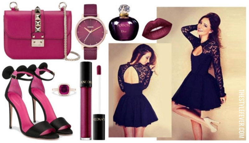 Little black dress, accessori ametista, wishlist di San Valentino