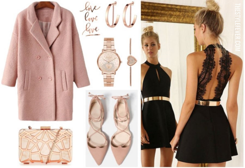 Little black dress, accessori oro rosa, wishlist di San Valentino